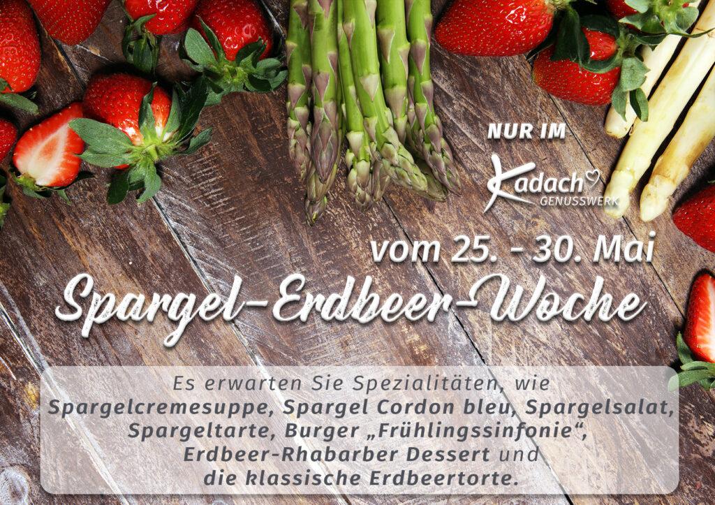 Ankündigung Spargel-Erdbeer-Woche