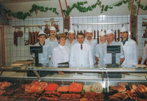 Das Produktionsteam zur Eröffnung im Dezember 1990